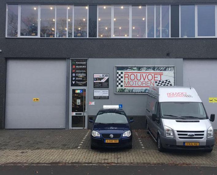 Startpunt motorrijles - Pand Rouvoet motoren Hilversum